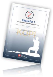 Danske Sejlunion Kitesurfing kursus Diplom fra Kitevest